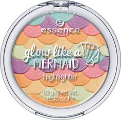 Those who love the sparkle of the surface of the ocean will love this highlighter as it creates a unique glow. Soft touch mousse make-up natural looking matt effect s. essence mattifying compact powder 4 different shades. Essence Makeup, Essence Cosmetics, Beauty Essence, Nars Cosmetics, Fairy Makeup, Mermaid Makeup, Eye Makeup, Mermaid Hair, Claire's Makeup