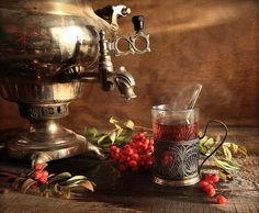 For a cup of Russian tea, several types of black leaves are brewed separately and then mixed in the cup. Like Turkey, Russia traditionally uses a multi-chamber pot, called a samovar, with a chamber for water and a chamber for brewing the tea. Russian Tea Time, Persian Culture, Tea Culture, Drinking Tea, Kettle, Brewing, Tea Cups, Traditional, Instagram