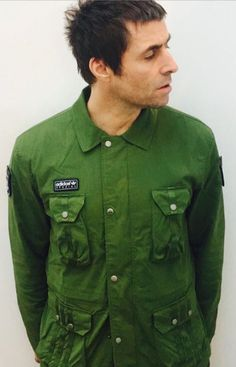 : LG rockin' the adidas SPZL Finnington Hoodie the Haslingden II Jacket and the Horwich Anorak - Liam Gallagher Oasis, The Verve, Paul Weller, Britpop, Mod Fashion, Cool Jackets, Hair Today, Military Jacket, Cool Outfits