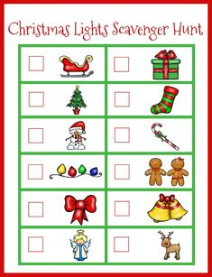 MUST DO Christmas Countdown Ideas for Kids! Love this easy Christmas Lights Scavenger Hunt. Perfect Christmas activity for preschoolers! Christmas Scavenger Hunt, Scavenger Hunt For Kids, Christmas Party Games, Christmas Countdown, Holiday Fun, Christmas Holidays, Christmas Crafts, Scavenger Hunts, Christmas Ideas