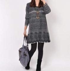 Hey, I found this really awesome Etsy listing at https://www.etsy.com/listing/154347374/gray-cotton-sweater-large-size-knitted