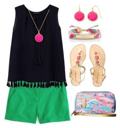 """""""Untitled #232"""" by meriberry ❤ liked on Polyvore featuring Lilly Pulitzer, J.Crew, Kate Spade, MANGO and Liz Claiborne"""