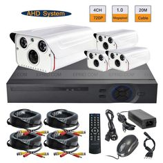 265.43$  Buy now - http://aliz4s.worldwells.pw/go.php?t=32367470006 - 4CH AHD 720P Realtime DVR 1.0MP Array IR Outdoor CCTV Security Camera System 265.43$