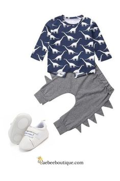 He'll be stylish and trendy in this cute Sauropod dinosaur set. Leg Cuffs, Future Children, School Outfits, Cool Gifts, Danish, Kids Fashion, Baby Boy, Cute Outfits, Babies