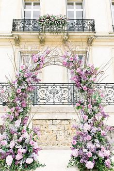 39 Lavender Wedding Decor Ideas Youll Totally Love ❤ lavender wedding decor ideas tender floral arch photographerinparis #weddingforward #wedding #bride