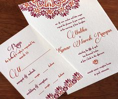 malika letterpress wedding invitation @invitationsbyajalon