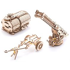 UGears Tanker, Ladder and Trailer additions for Truck Wooden Kit Wooden Model Kits, Metal Models, New Model, Ladder, Hobbies, Truck, Stairway, Trucks, Ladders