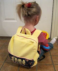 Nap Time Crafters: Toddler Backpack Tutorial