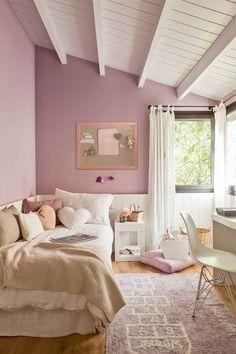 35 pink girly bedroom color schemes that will make habitaci³n infantil pintada de lila kalon studios caravan divan 55 kids room design ideas cool kids Bedroom Color Schemes, Bedroom Themes, Bedroom Colors, Bedroom Decor, Bedroom Layouts, Bedroom Ideas, Cool Kids Bedrooms, Girls Bedroom, Rose Pastel