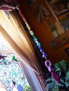 Goddess Pendulum - Chakra Rainbow, Healing, Reiki, Divination, Dowsing