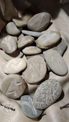 Handcarved Elder Futhark Runes by Bells, Books & Baubles Elder Futhark Runes, Rune Stones, Pagan, Hand Carved, Gallery, Shop, Books, Crafts, Libros
