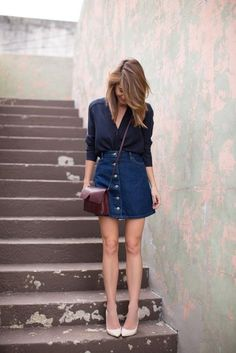 Style Tips On How To Wear Denim Mini Skirts