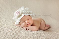 Lace baby hat