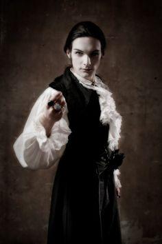 Male gothic model pose. Perhaps Eternity.