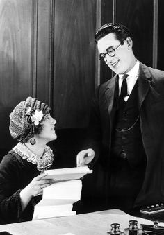 Harold Lloyd and Mildred Davis in Safety Last! (1923)  After they were married, Mildred quit movies, and made one more film.