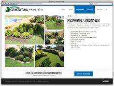 Criação de Site Responsivo para a floricultura Citricultura Paulista de Betim - página paisagismo