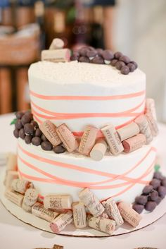 Wine themed Bridal Shower cake! Bridal Shower at a winery.