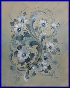 Rosemaling with a modern twist Tole Painting, Fabric Painting, Painting & Drawing, Rosemaling Pattern, Norwegian Rosemaling, Scandinavian Folk Art, Arte Popular, Art Store, Painting Patterns