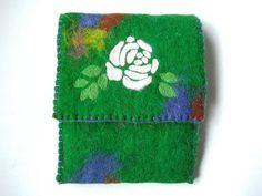 Green Felt Ipad mini case wool Ipad mini cover by BrightHappyFelt