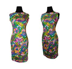 Vintage 1960s Shift Dress - Printed Colorful Psychedelic Cotton sleeveless Day Dress Medium Large. $45.00, via Etsy.