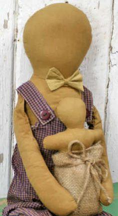 Amish boy primitive doll