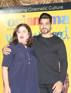 Farah Khan and Gautam Gulati at Osianama's Farah Khan Masterclass at Osianama at Liberty