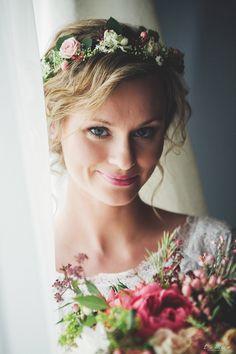 INNA Studio_ floral crowns / wianek ślubny / pastelowy / regularny / fot. Lenart Fotografia