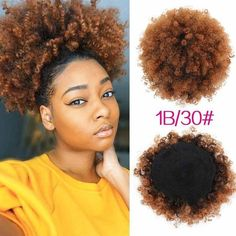 High Puff Afro Curly Ponytail Drawstring Short Afro Kinky Curly Pony Tail Clip in on Synthetic Curly Hair Bun Made of Kanekalon. Excellent Quality Heat Resistant Fiber made tail hair, ponytail hair. Curly Hair Ponytail, Ponytail Wrap, Ponytail Hair Extensions, Curly Hair With Bangs, Short Curly Hair, Curly Hair Styles, Natural Hair Styles, Short Afro, Wavy Hair