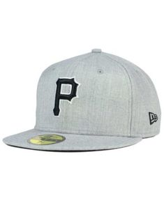 New Era Pittsburgh Pirates Heather Black White 59FIFTY Fitted Cap