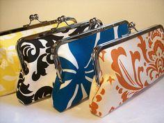 Bridesmaid gift idea~ coordinating clutches