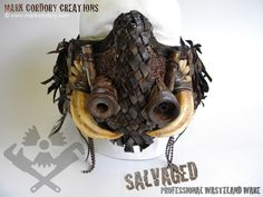 Post Apocalypse tribal mask for LARP and Airsoft. Made by Mark Cordory Creations. Commission enquiries always welcome @ www.markcordory.com