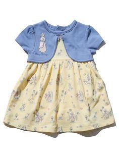 Peter Rabbit Mock Cardigan dress from M&Co Toddler Dress Up, Toddler Outfits, Toddler Girl, Peter Rabbit Baby Clothes, Cute Baby Clothes, Outfits Niños, Kids Outfits, Baby Outfits, Toddler Fashion