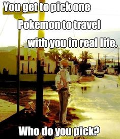 I'd choose Wither Pikachu or Lucario