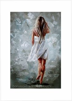 Walk in His Presence A2 Size Limited Edition Fine Art Print. The image gets printed on a premium water resistant matte canvas, using archival pigment inks to e