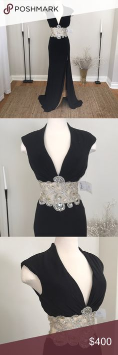 Mac Duggal Black Beaded Gown Dress 82228R Brand new with tags. Awesome as a Bridal gown, couture dress, pageant gown, prom, homecoming, evening, or formal dress. Check Out my other listings for more Mac Duggal dresses. Refer to Mac Duggals size charts for all measurements. 🔟Ⓜ️ Mac Duggal Dresses Prom