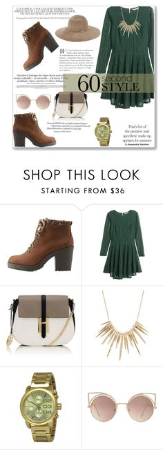 """60 Second Style: Family Dinner"" by sandrapopescu on Polyvore featuring Charlotte Russe, H&M, Lipsy, Alexis Bittar, Diesel, MANGO, Eugenia Kim and familydinner"