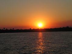 Sunset over the Zambezi river #Zambia