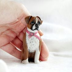 Custom dogs figurines and ornaments. by vellvettpets on Etsy