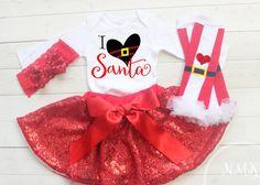 Girls Christmas Outfit Baby Girls Christmas by NylaMarieKids