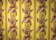 Excited to share the latest addition to my #etsy shop: RARE Out of Print FULL SWING Vintage Tropical Parador Stripe Tobacco Red Art Deco Style Yellow Striped Barkcloth Fabric #barkcloth #upholstery #homedecor #supplies #sewing #vintage #art deco #cushions #striped #glamorous #1940s  #yellow #cotton