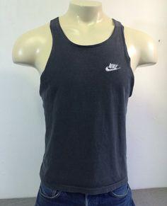 NIKE Shirt Tank Top 90's Vintage/ Nike GREY Tag by sweetVTGtshirt