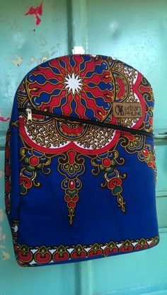 Blue urbanphunk ankara backpack