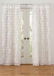 ruffle curtains..def an upcoming todo :)