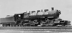 Locomotives were classified by wheel arrangements. The Mallet, one of the largest types of steam locomotive, had 12 driving wheels and a leading and a trailing axle (thus, a 2-6-6-2).