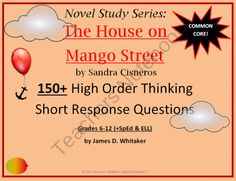 House on Mango Street 150+ Short Response Questions product from SophistThoughts on TeachersNotebook.com