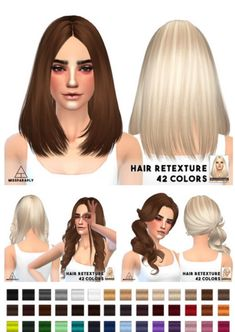 Miss Paraply: Skysims hairstyles retextured - Sims 4 Hairs - http://sims4hairs.com/miss-paraply-skysims-hairstyles-retextured/