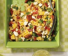 Tre Stelle® Recipes - Corn, Bacon and Feta Salad Corn Recipes, Great Recipes, Salad Recipes, Favorite Recipes, Feta Salad, Cheese Salad, Easy Cooking, Cooking Recipes, Food And Thought
