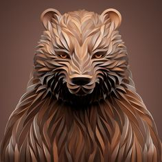 Amazing Digital Illustrations of Animals by Maxim Shkret - Inspiration Grid Portrait Illustration, Digital Illustration, Grid Design, Graphic Design, Design Logos, Digital Sculpting, Owl Tattoo Design, Photoshop, Unique Animals
