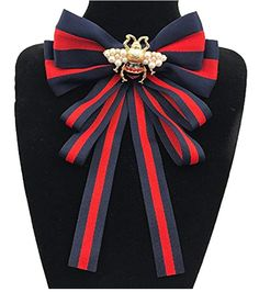 04f9b45ab3aff Multi-layered bow-knitted brooch bee cravat