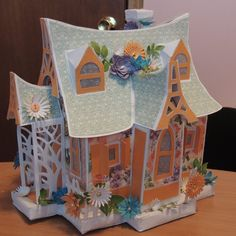 Bewitched Cabin from SVGCuts created for a little girl's nightlite - used Graphic 45 Sweet Sentiments 3d Paper Crafts, Foam Crafts, Paper Clay, Christmas Tree Village Display, Doll House Crafts, Paper Architecture, Carrousel, Papel Scrapbook, Mini Doll House